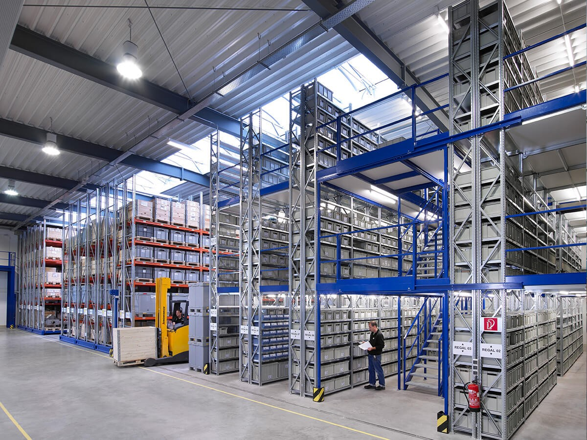 Multi Two-Tier Racking System Features